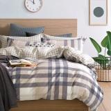 红富士床上用品纯棉四件套全棉斜纹被套床单四件套 1.5/1.8m床  漫调时光FN-18A